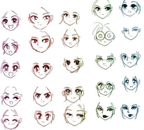 Vẽ khuôn mặt người phong cách hoạt hình