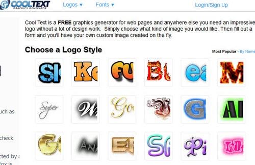 website tao logo truc tuyen, tao logo online