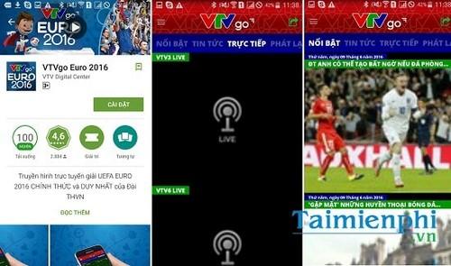 xem euro 2016 truc tuyen tren smartphone android