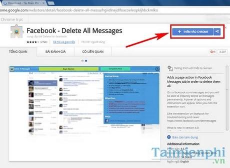 xoa sms facebook