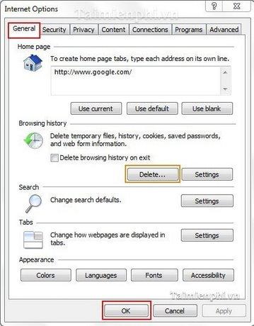 Internet Explorer - Xử lý lỗi