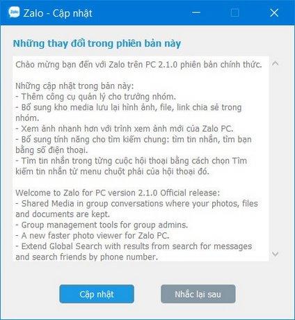 Zalo trên PC cập nhật tính năng mới, tìm kiếm tin nhắn, thêm kho ảnh 1