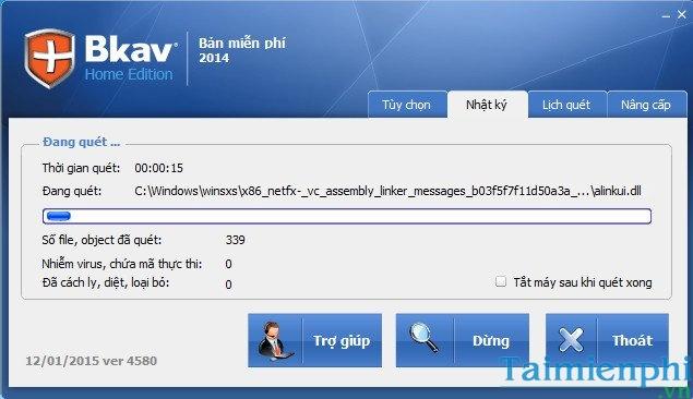 Hướng dẫn cách cài đặt phần mềm diệt virus bkav home miễn phí bb.