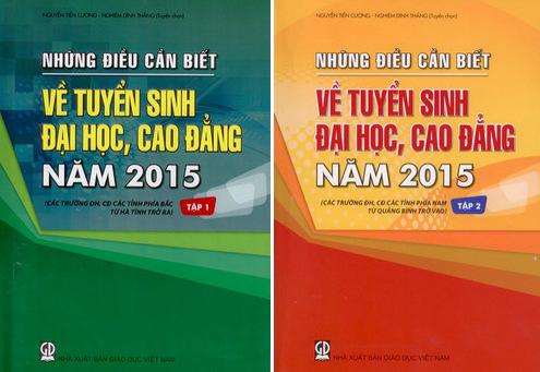 Nhung dieu can biet 2015, huong dan tuyen sinh dai hoc cao dang 2015