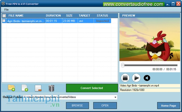download Free MP4 to AVI Converter