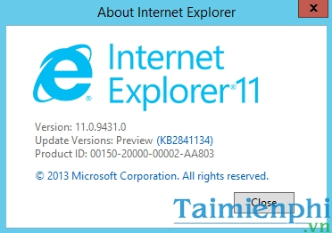 tai Internet Explorer 11