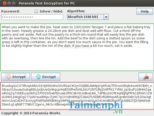 download paranoia text encryption for pc
