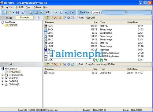 Download UltraISO - Tạo, chỉnh sửa và quản lý file ISO -taimienphi vn