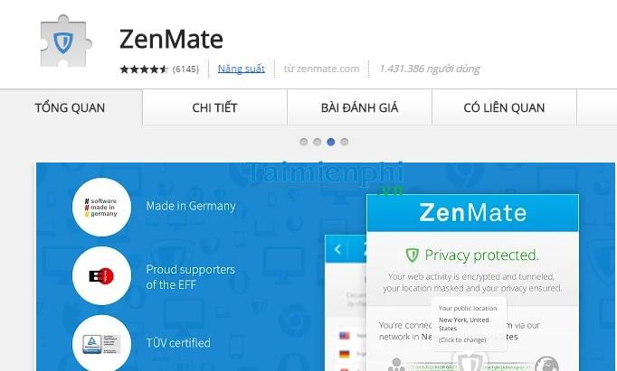ZenMate for Google Chrome