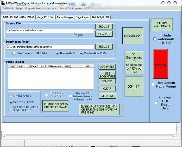 PDF Split Merge Pages