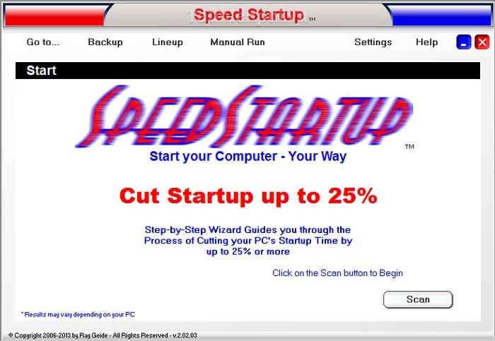 Speed Startup