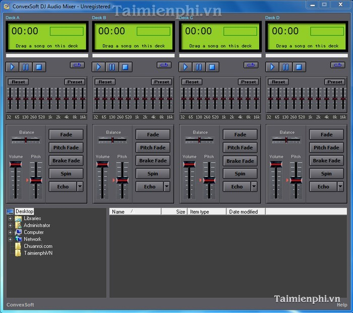 ConvexSoft DJ Audio Mixer