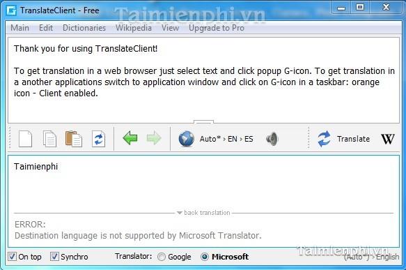 Google Translate Client