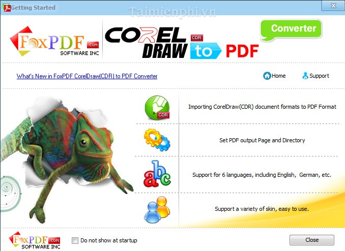 FoxPDF CDR to PDF Converter