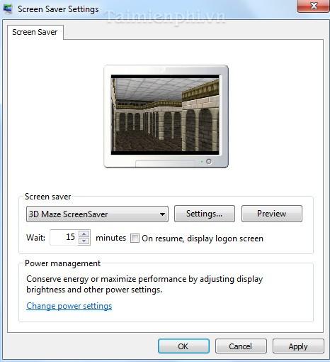 3D Maze ScreenSaver