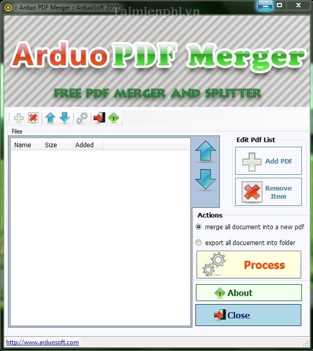 Arduo PDF Merger