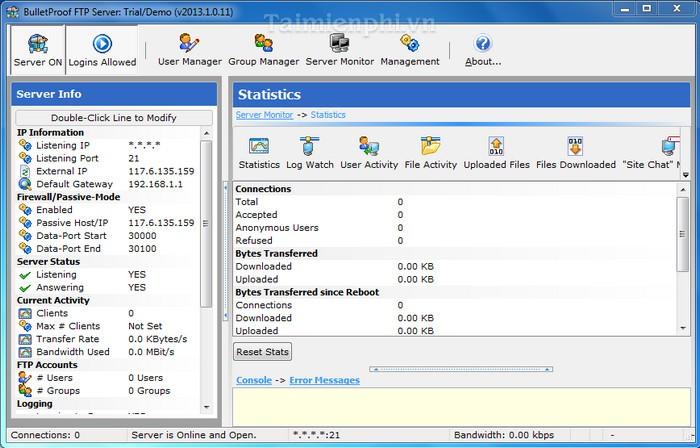 BulletProofFTP Server