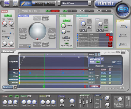 Kinisis timeline synthesizer for Mac