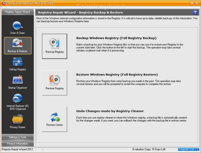 Registry Repair Wizard 2012