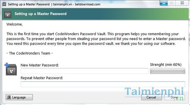 CodeWonders Password Vault